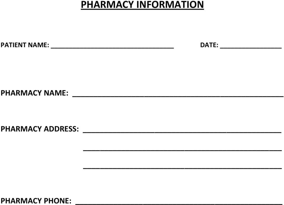 PHARMACY NAME: