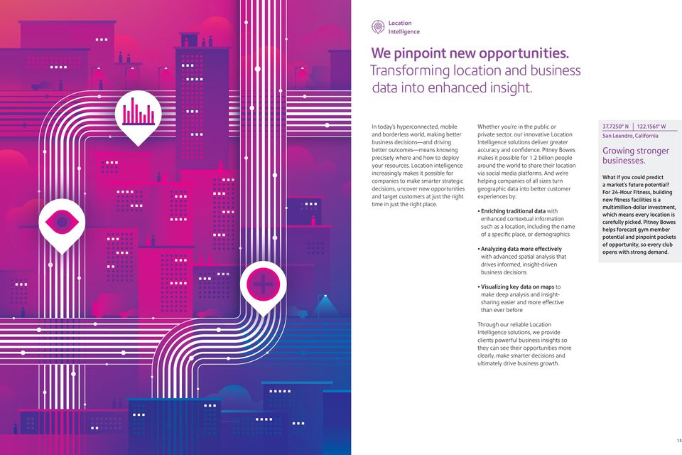 Location intelligence increasingly makes it possible for companies to make smarter strategic decisions, uncover new opportunities and target customers at just the right time in just the right place.