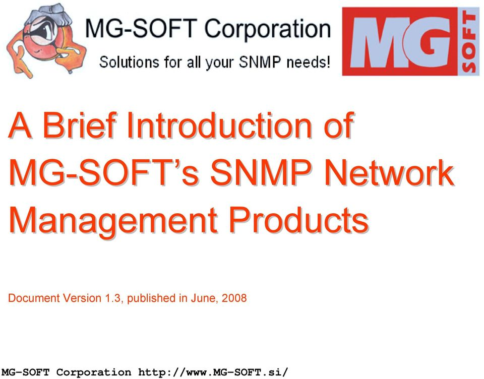 Management Products