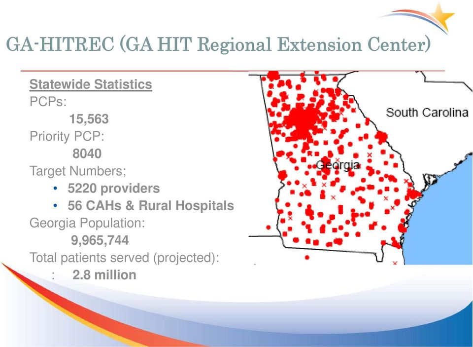 5220 providers 56 CAHs & Rural Hospitals Georgia