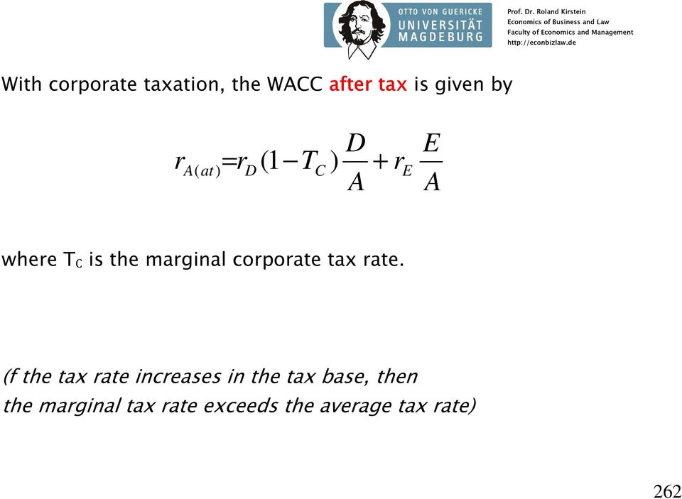 corporate tax rate.