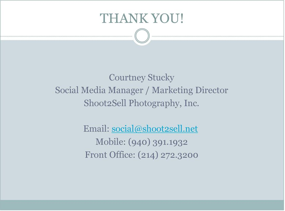 Marketing Director Shoot2Sell Photography,