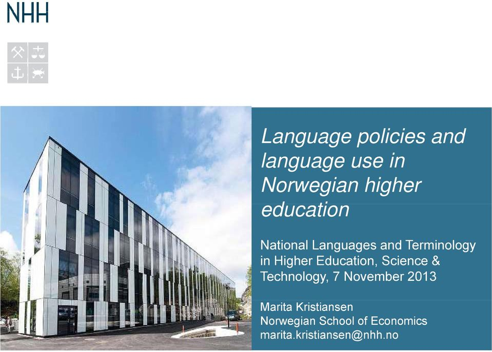 Education, Science & Technology, 7 November 2013 Marita