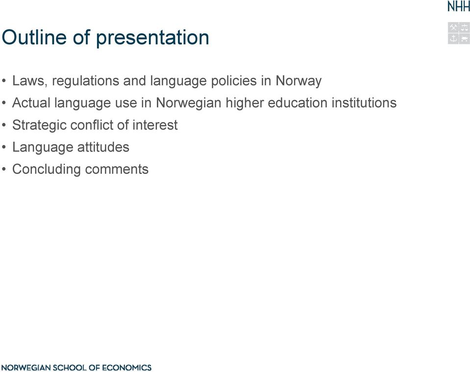 Norwegian higher education institutions Strategic