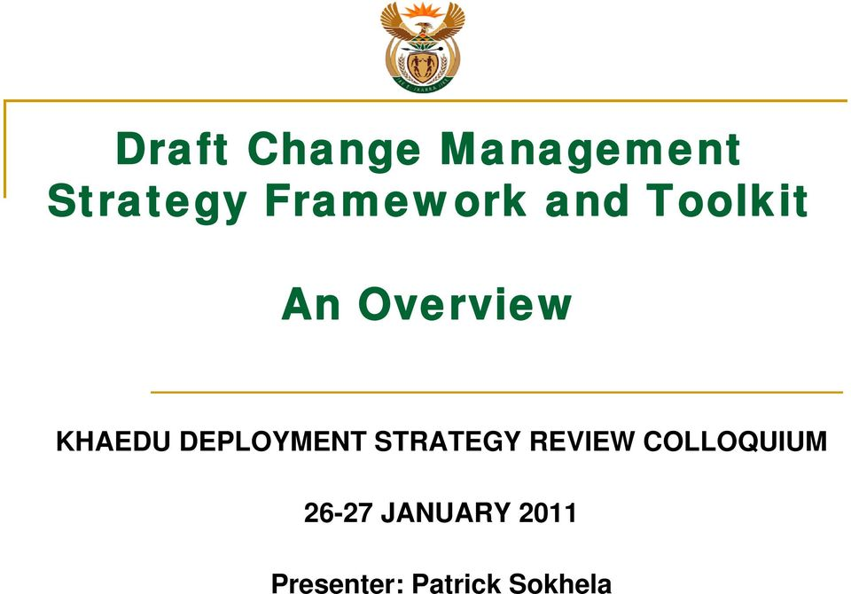 KHAEDU DEPLOYMENT STRATEGY REVIEW