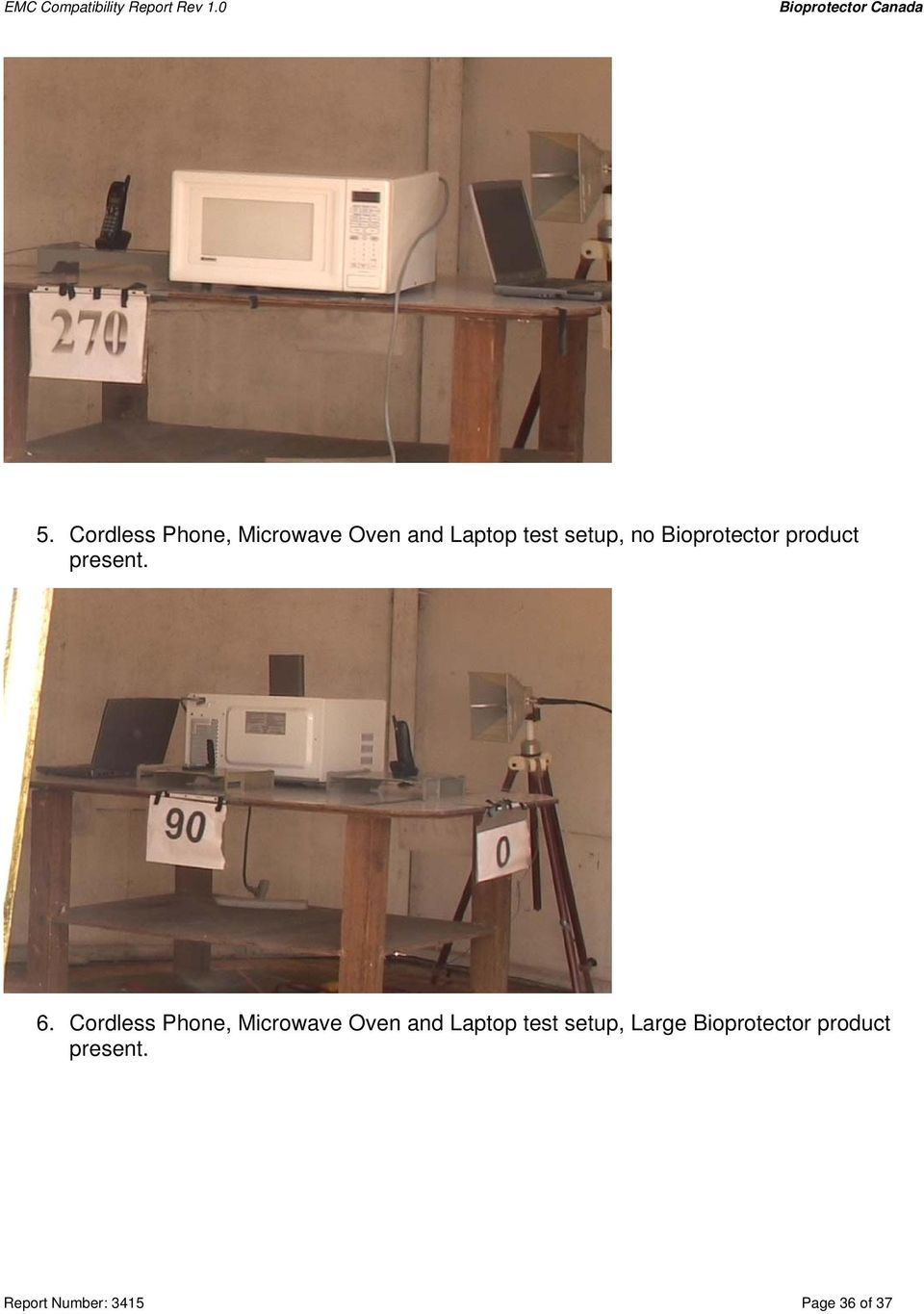 Cordless Phone, Microwave Oven and Laptop test setup,