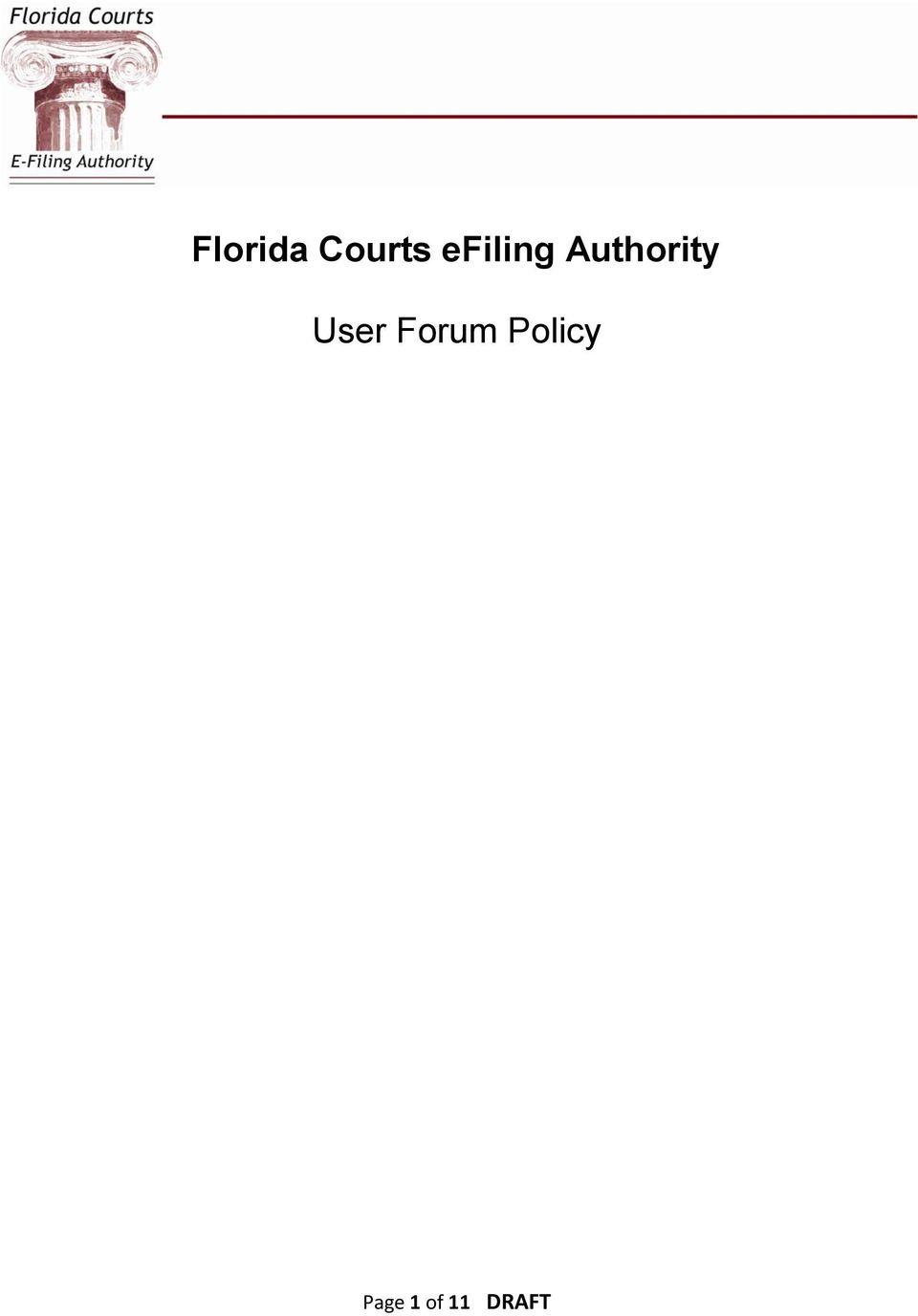 User Forum Policy