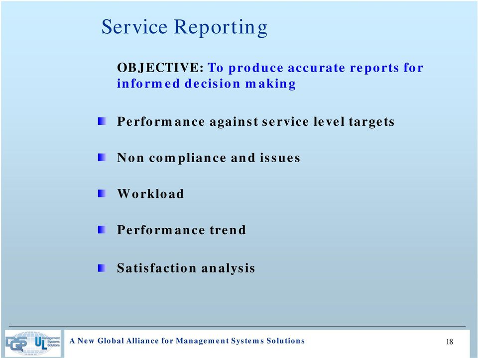 targets Non compliance and issues Workload Performance trend