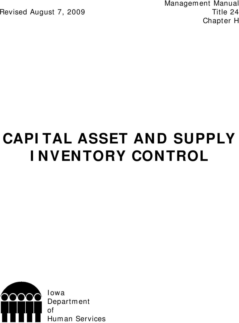 CAPITAL ASSET AND SUPPLY