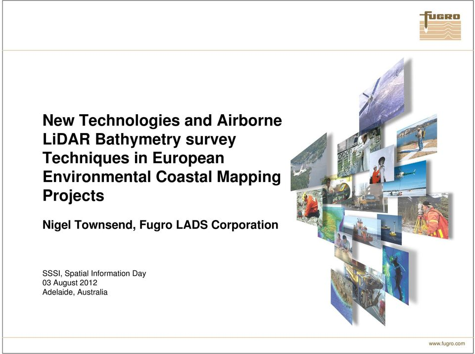 Projects Nigel Townsend, Fugro LADS Corporation SSSI,
