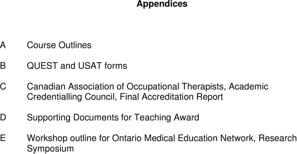 Council, Final Accreditation Report Supporting Documents for Teaching