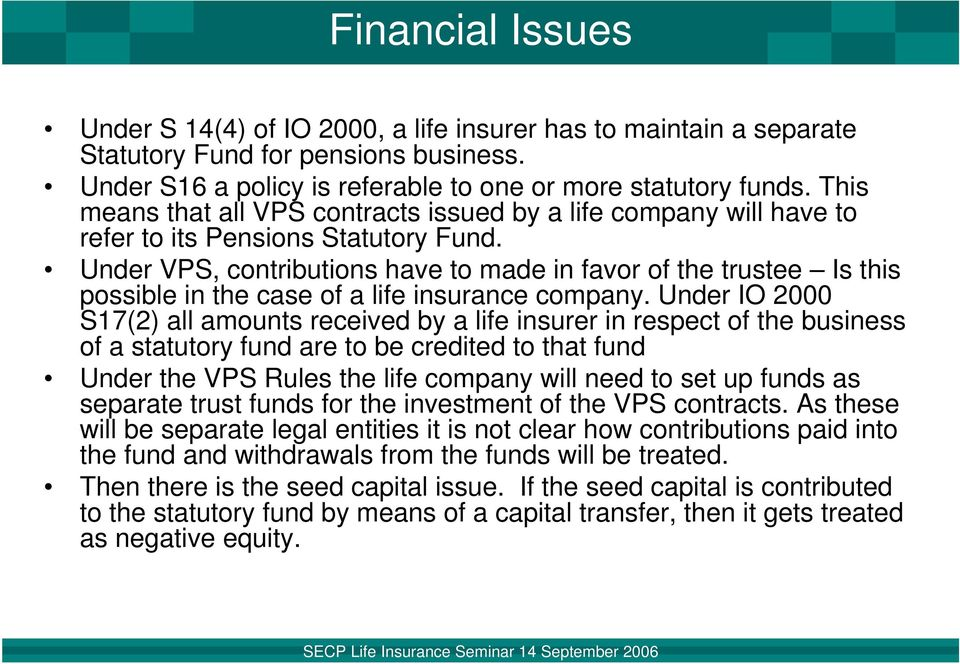 Voluntary Pension System Rules and Life Insurance ...