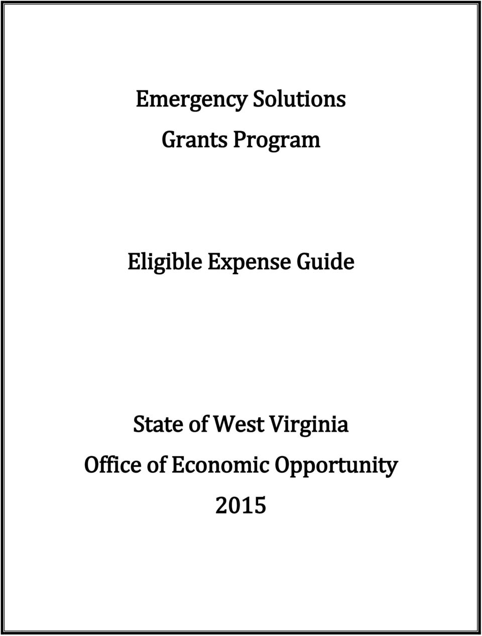 Guide State of West Virginia
