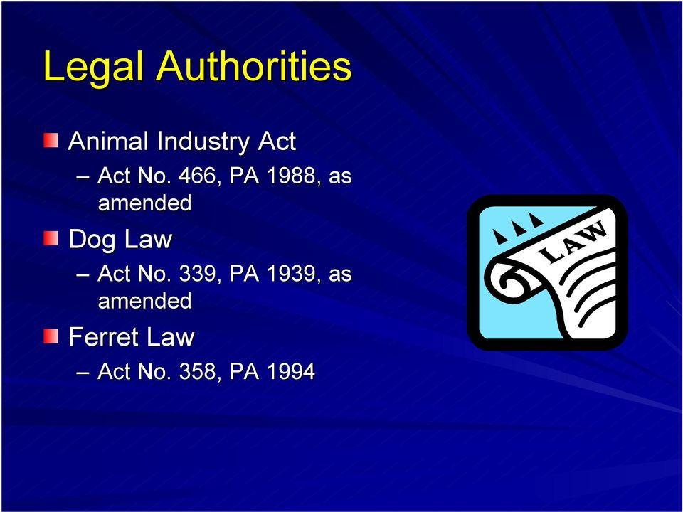 466, PA 1988, as amended Dog Law