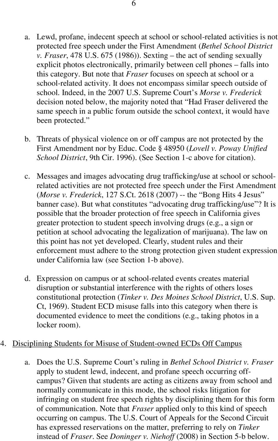FREE SPEECH AND PRIVACY DIMENSIONS OF STUDENT MISUSE OF