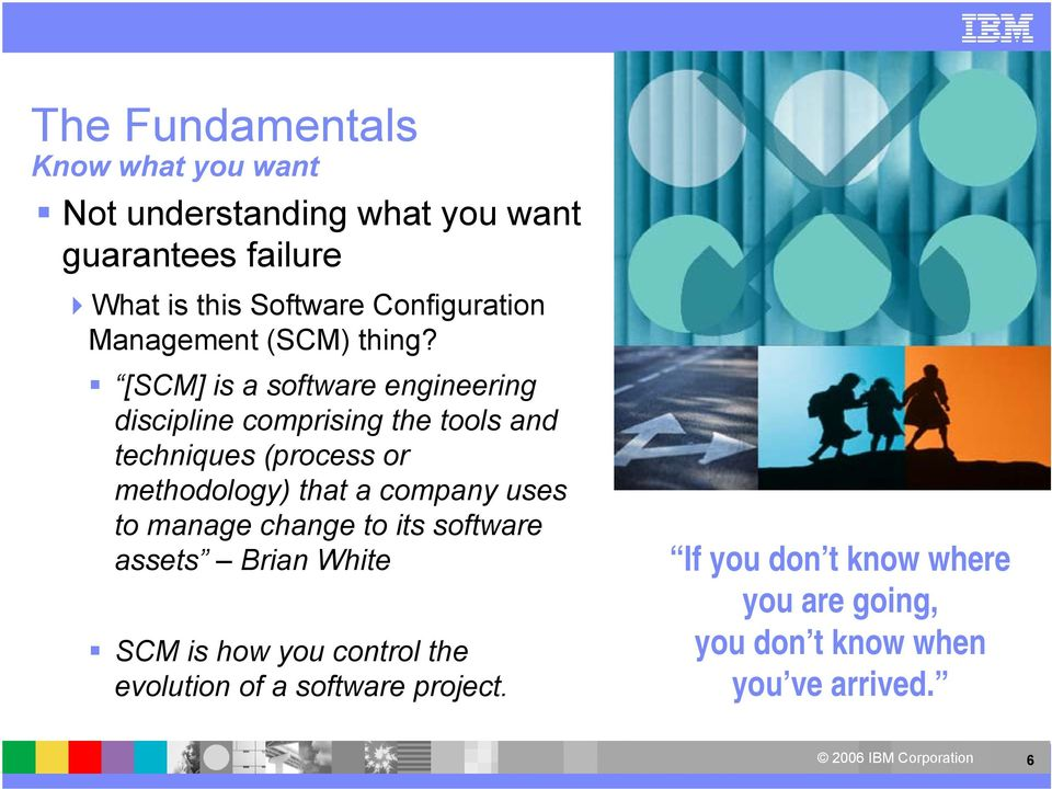 [SCM] is a software engineering discipline comprising the tools and techniques (process or methodology) that a