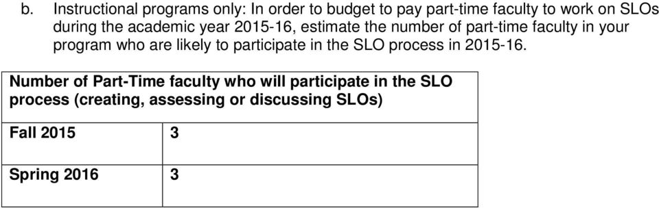 are likely to participate in the SLO process in 2015-16.