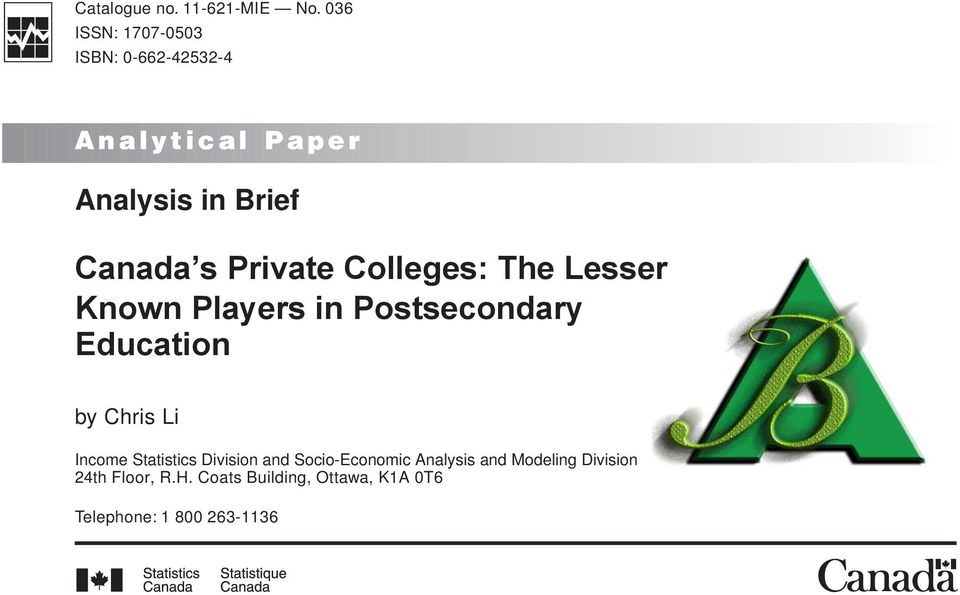 Private Colleges: The Lesser Known Players in Postsecondary Education by Chris Li