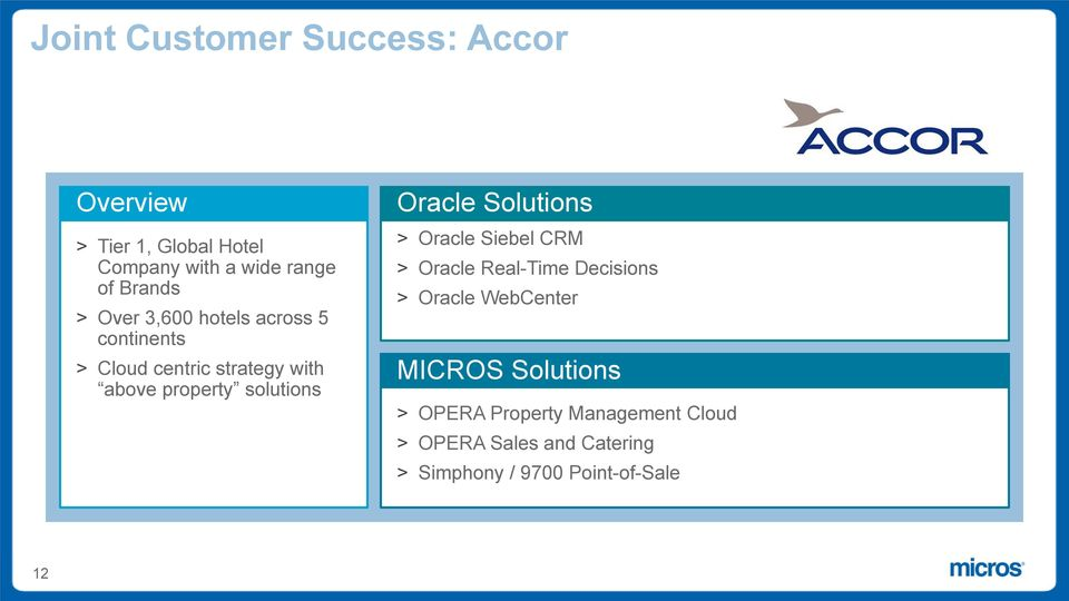 Oracle Solutions > Oracle Siebel CRM > Oracle Real-Time Decisions > Oracle WebCenter MICROS