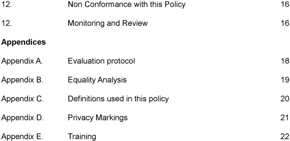 Evaluation protocol 18 Appendix B.