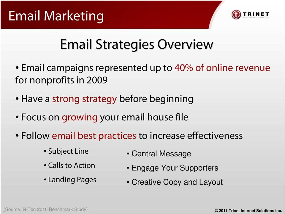 file Follow email best practices to increase effectiveness Subject Line Calls to Action Landing
