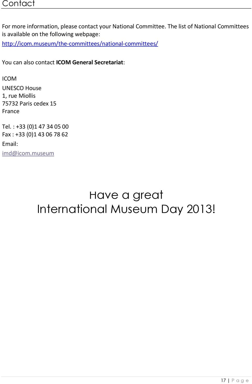 Museums  eums: How to prepare your International Museum Day
