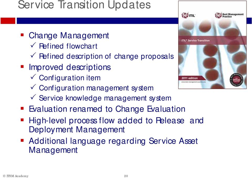 knowledge management system Evaluation renamed to Change Evaluation High-level process flow