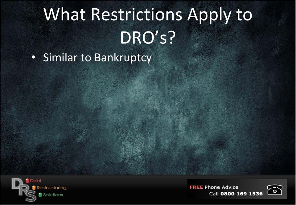 Apply to DRO