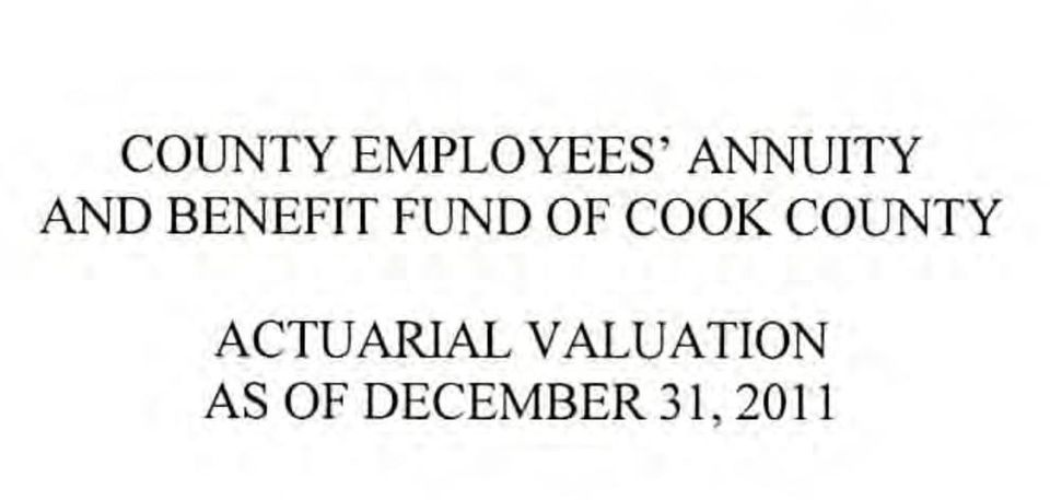 OF COOK COUNTY ACTUARIAL