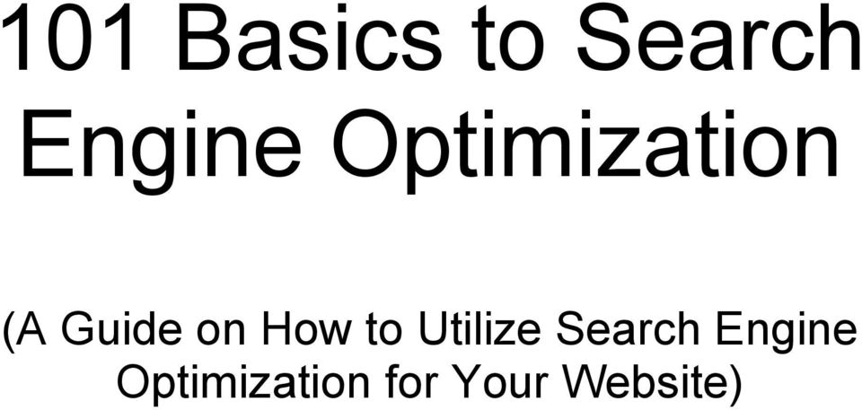How to Utilize Search