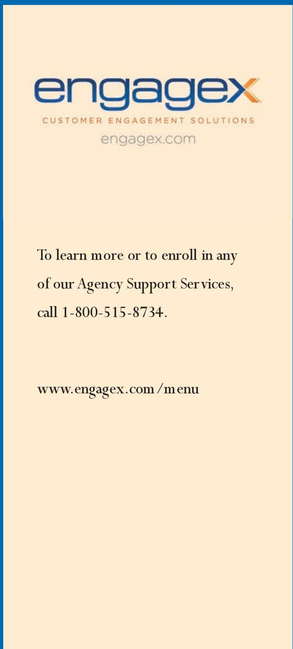 Support Services, call