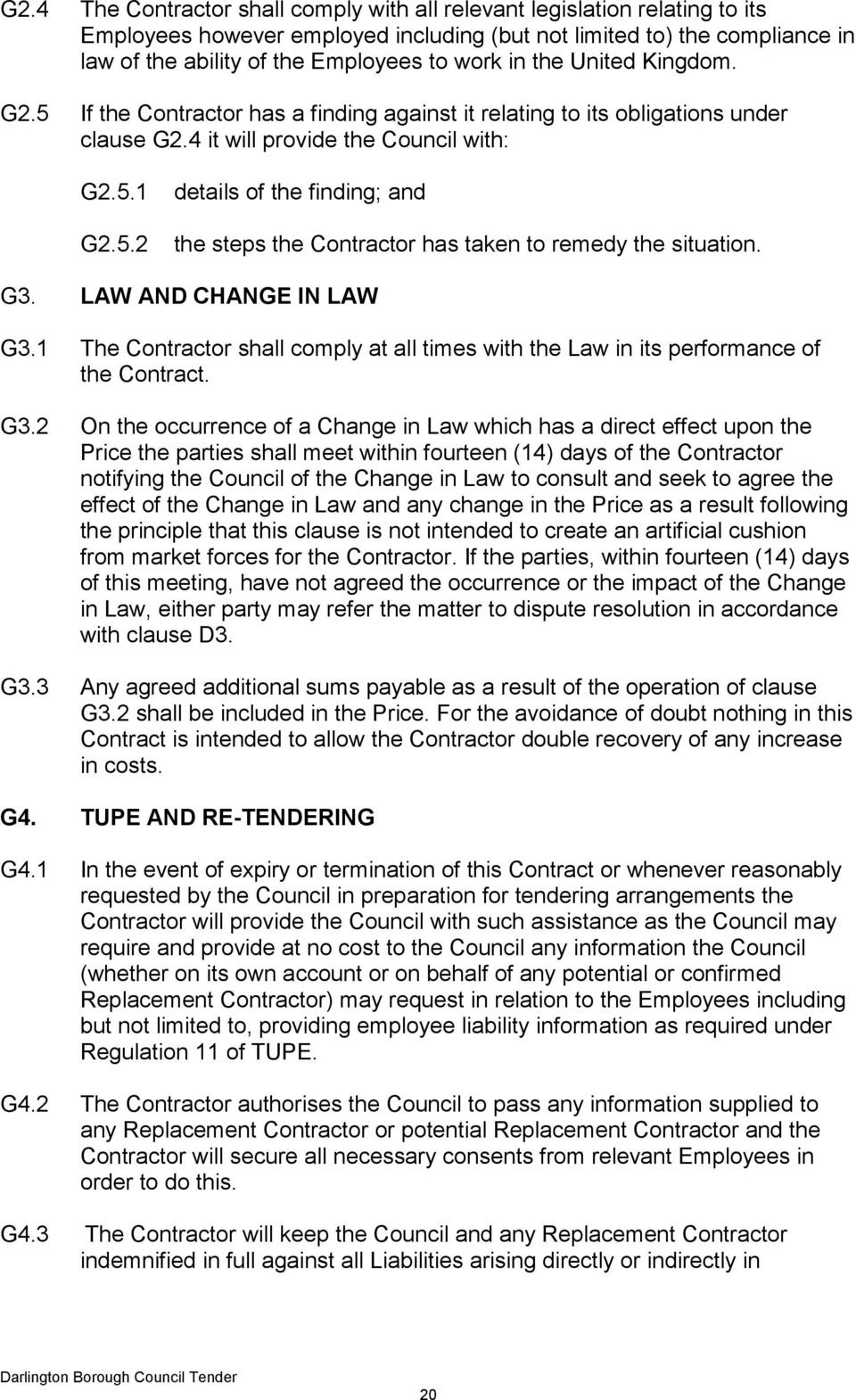 G3. LAW AND CHANGE IN LAW G3.