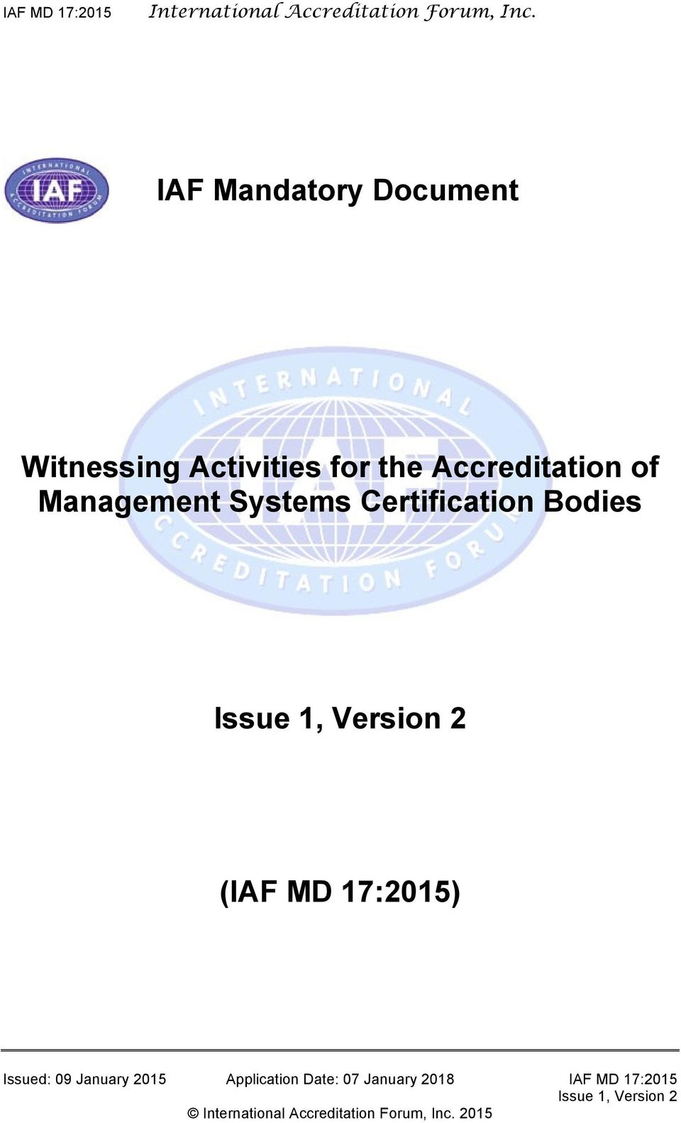 Accreditation of Management