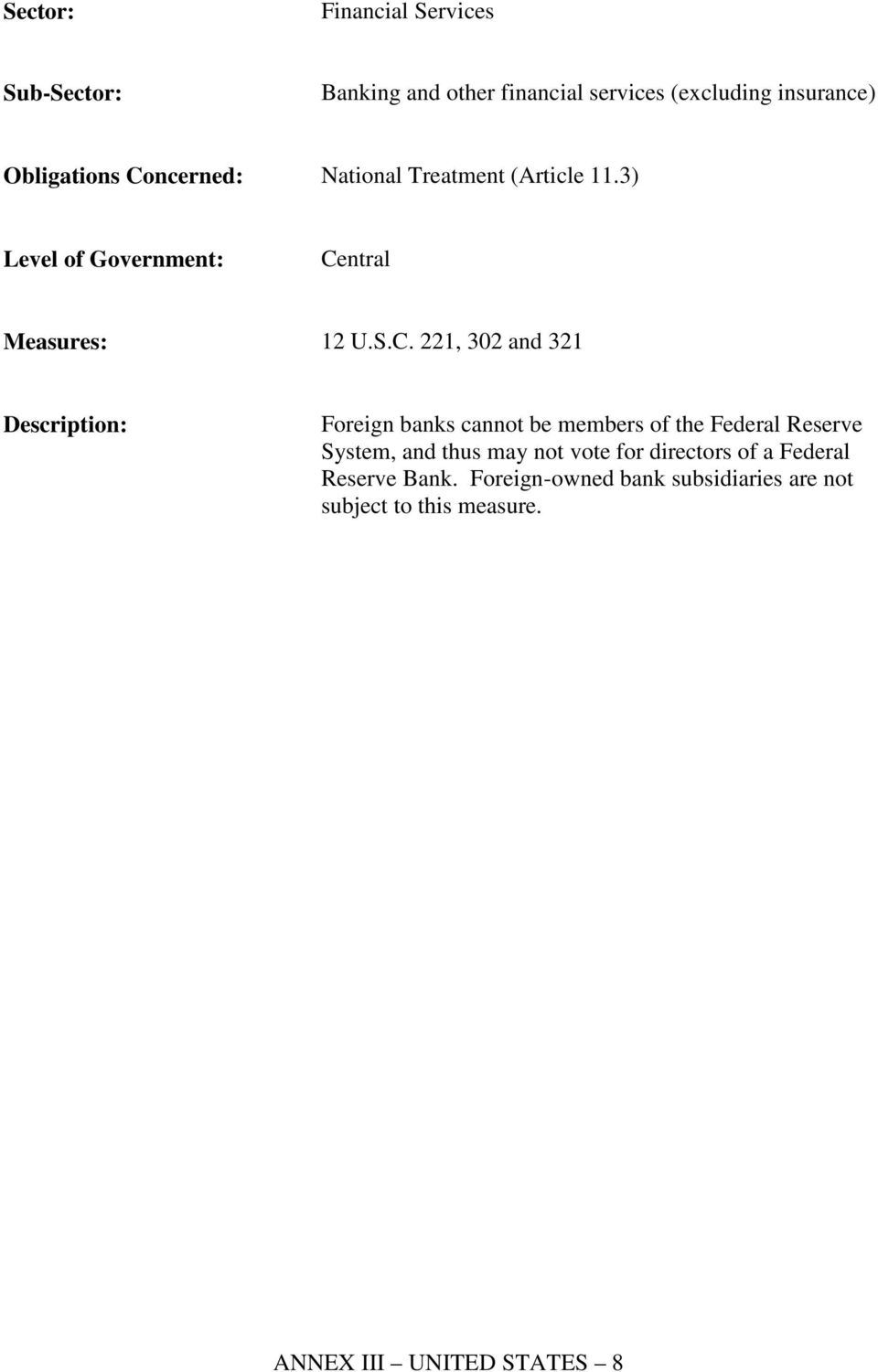 221, 302 and 321 Foreign banks cannot be members of the Federal Reserve