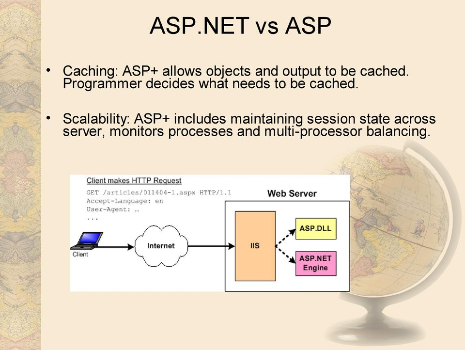 Scalability: ASP+ includes maintaining session state
