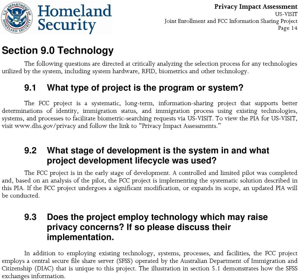 technology. 9.1 What type of project is the program or system?
