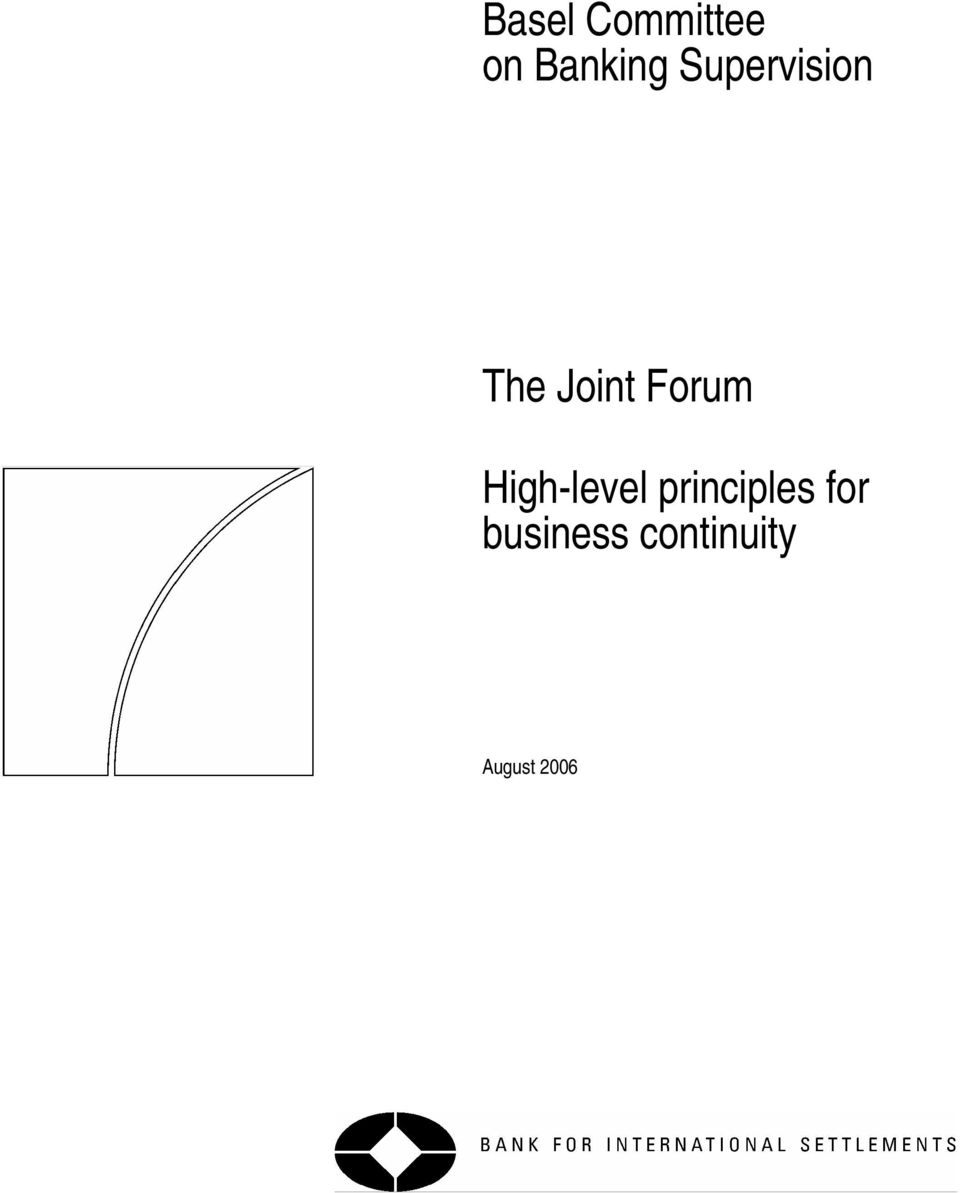High-level principles for