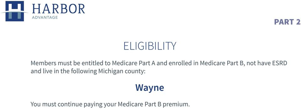have ESRD and live in the following Michigan county: