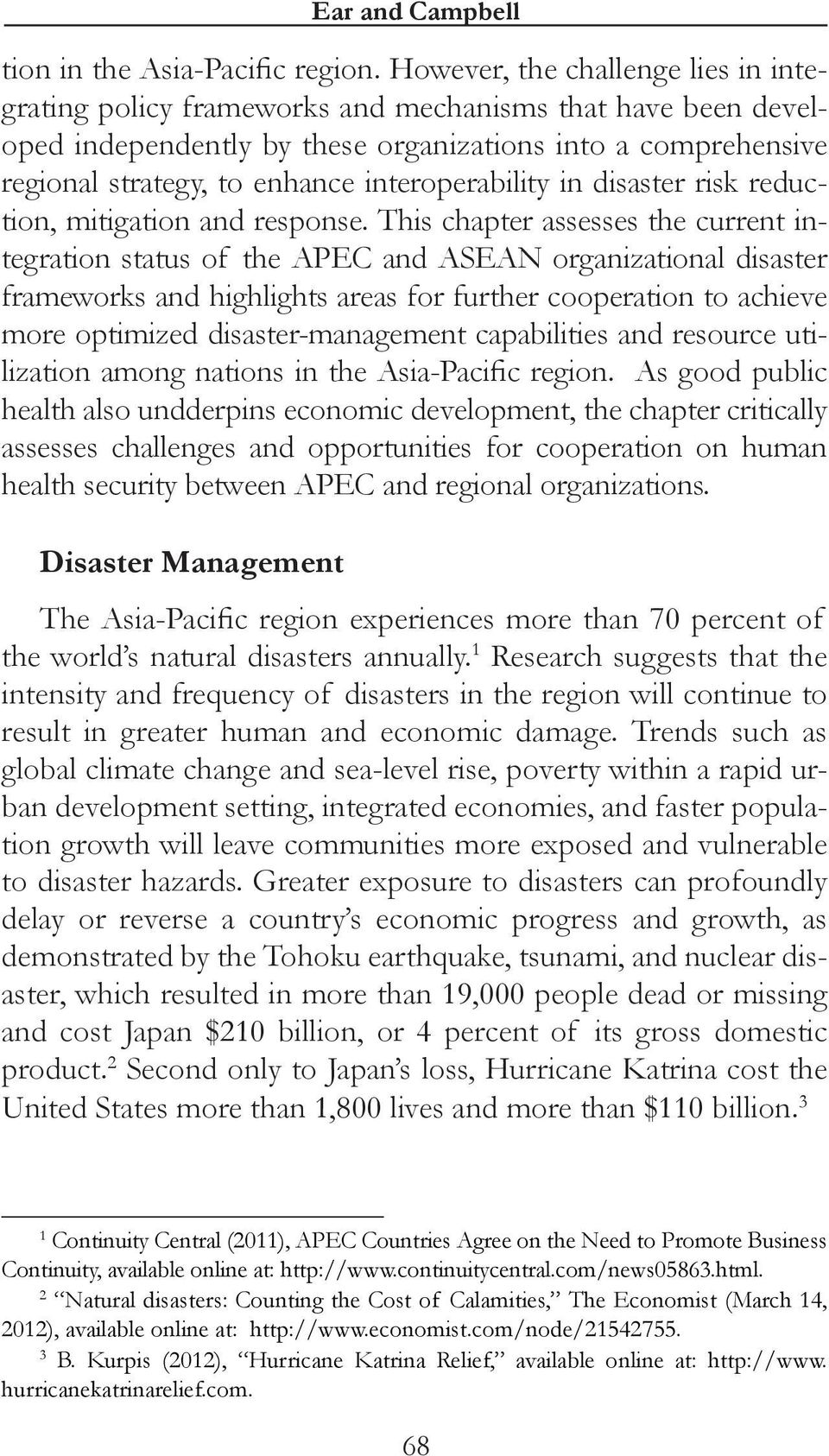 interoperability in disaster risk reduction, mitigation and response.