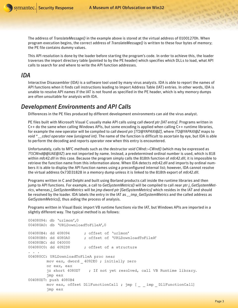 A Museum of API Obfuscation on Win32 - PDF