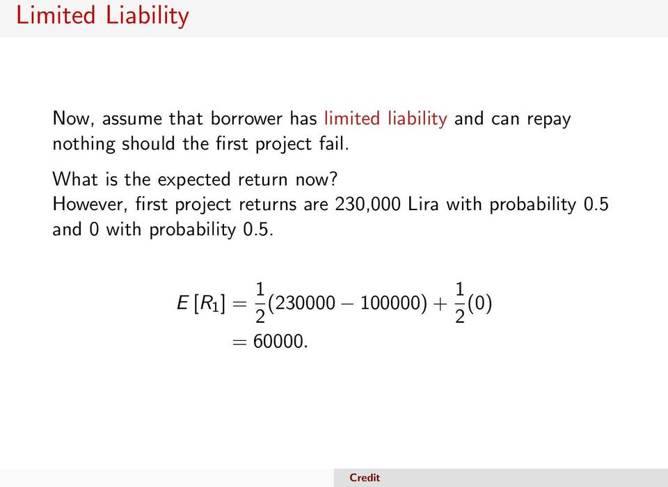 What is the expected return now?