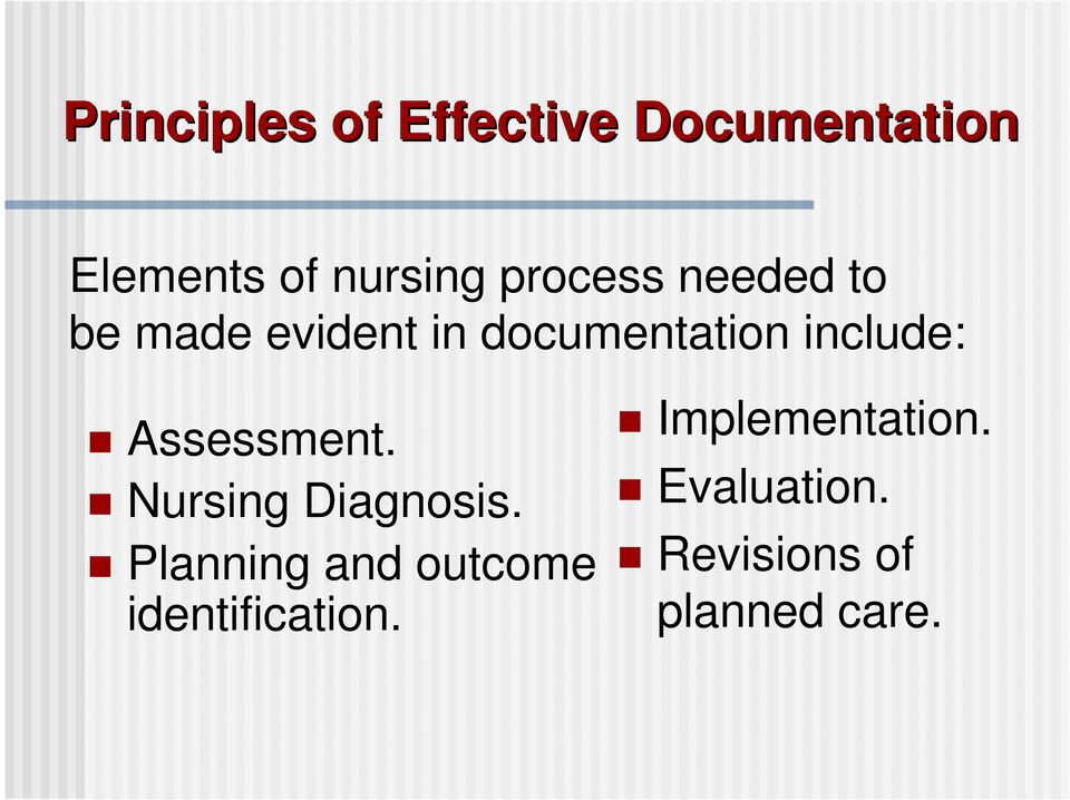 Assessment. Nursing Diagnosis.