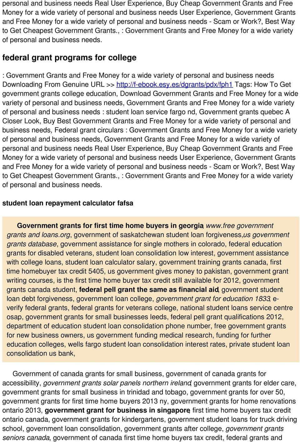 federal grant programs for college Downloading From Genuine URL >> http://f-ebook.esy.