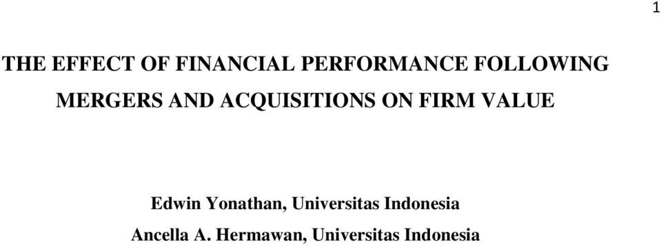 FIRM VALUE Edwin Yonathan, Universitas