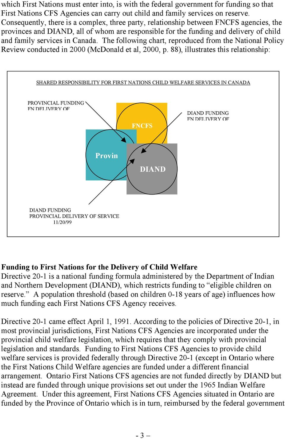 Canada. The following chart, reproduced from the National Policy Review conducted in 2000 (McDonald et al, 2000, p.