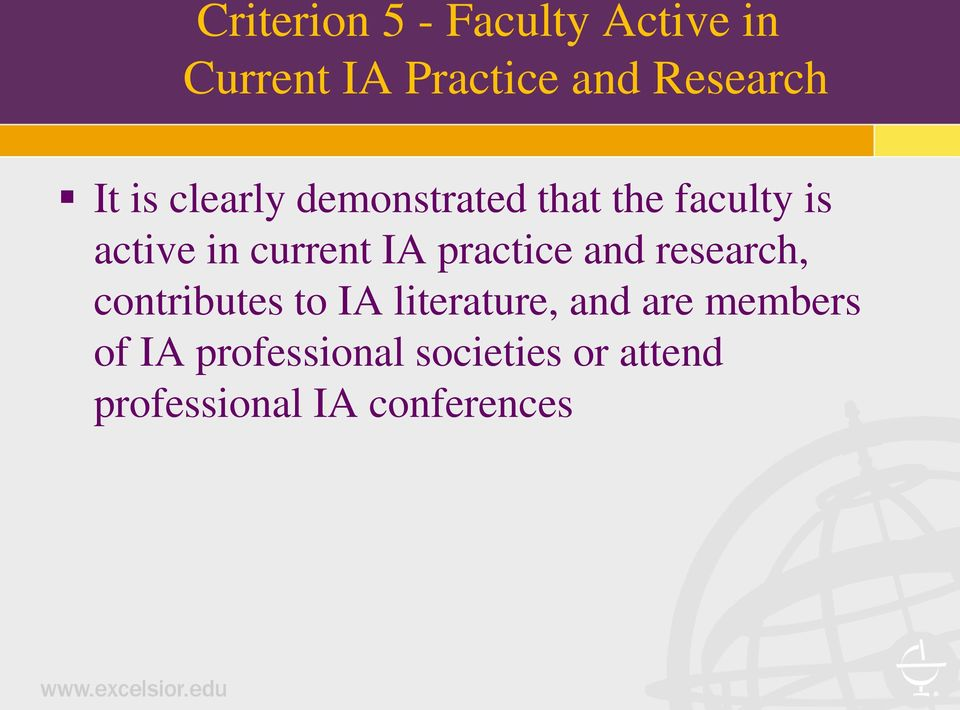 IA practice and research, contributes to IA literature, and are