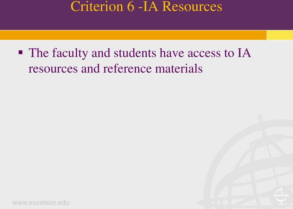 have access to IA