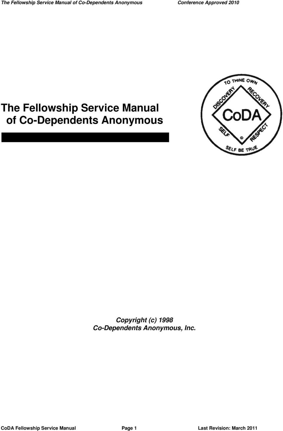 Co-Dependents Anonymous, Inc.