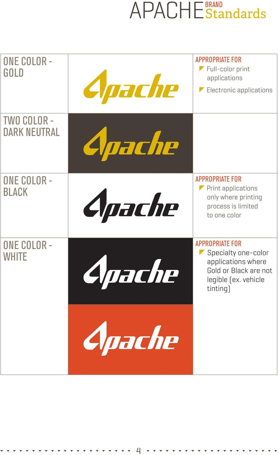 applications only where printing process is limited to one color ONE COLOR - WHITE