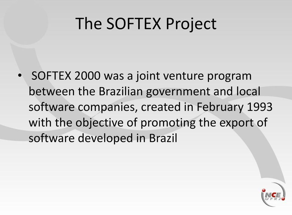 software companies, created in February 1993 with the